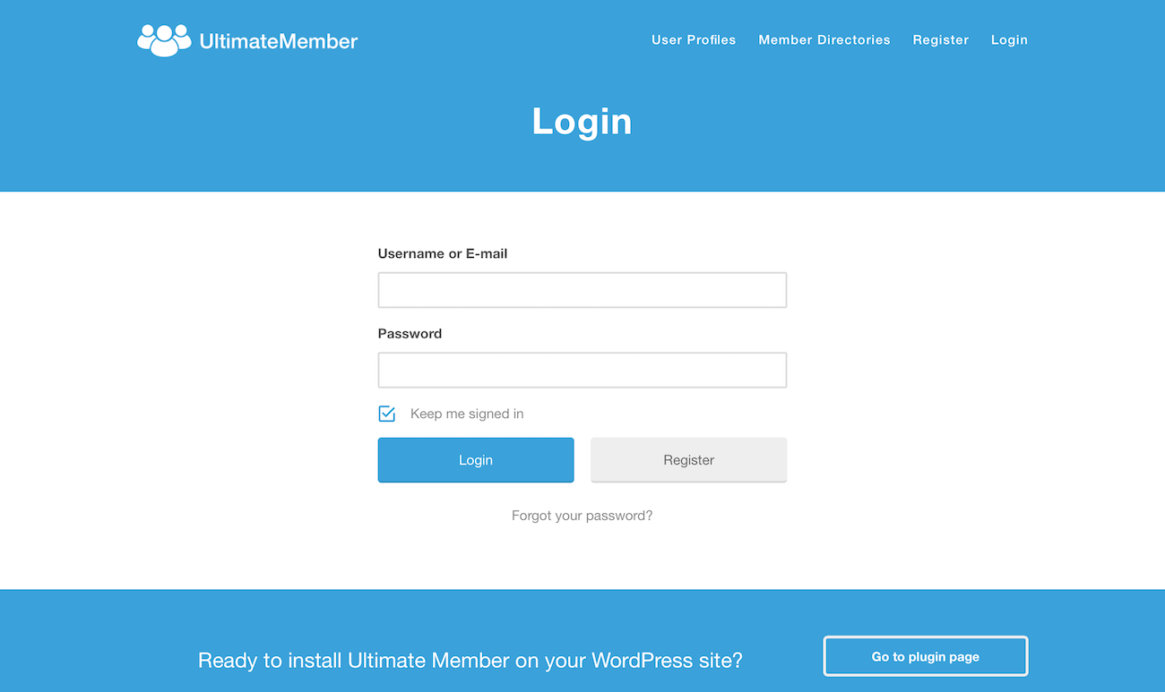 Front-end Login WordPress