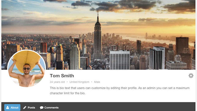 Front-end User Profile - WordPress