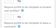 Apply Restrictions To The User Role Until They Have Completed Their Profile